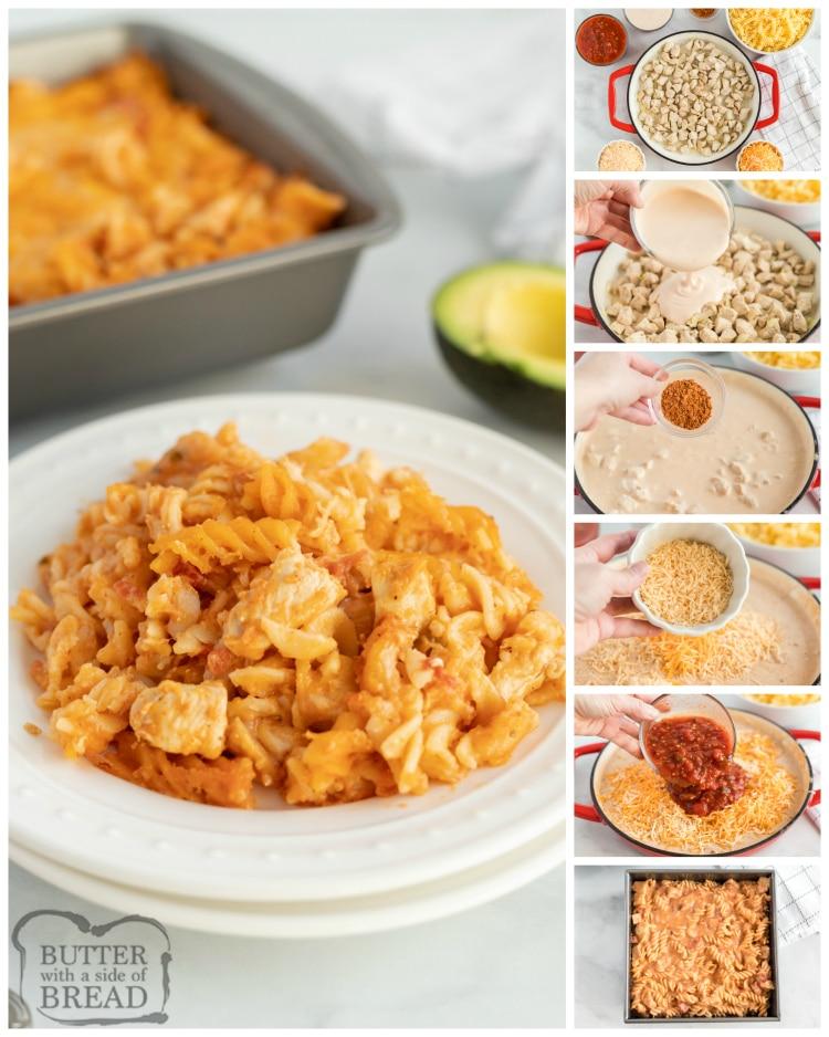 Instrucciones paso a paso sobre cómo preparar pollo al horno con pasta Alfredo